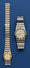 Timepieces:Wristwatch, Omega Constellation's For Repair. ... (Total: 2 Items)