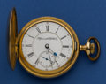 Timepieces:Pocket (post 1900), Plymouth Watch Co. 21 Jewel Hunter's Case Pocket Watch. ...