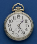 "Timepieces:Pocket (post 1900), Illinois Sharp 21 Jewel ""Motor Barrel 60"" Hour Bunn Special. ..."