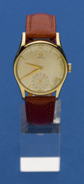 Timepieces:Wristwatch, Omega 14k Gold Vintage Watch. ...