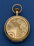 Timepieces:Pocket (pre 1900) , Illinois 8 Size 14k Gold Hunters Case. ...