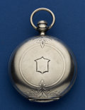 Timepieces:Pocket (pre 1900) , Elgin Coin Silver 18 Size Pocket Watch. ...