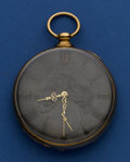 Timepieces:Pocket (pre 1900) , M.J. Tobias 14k Gold Fancy Dial Key Wind Pocket Watch. ...