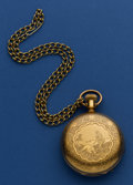 Timepieces:Pocket (pre 1900) , Illinois 18 Size Gold Filled Transitional Pocket Watch. ...