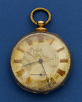 Timepieces:Pocket (pre 1900) , Swiss 9k Gold Key Wind Pocket Watch. ...