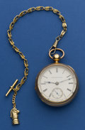 Timepieces:Pocket (pre 1900) , Illinois 11 Jewel 18 Size Pocket Watch. ...