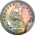 Proof Seated Quarters, 1882 25C PR67 PCGS. CAC....