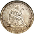 Seated Quarters, 1855 25C Arrows MS65 NGC....