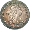 Early Quarters, 1806/5 25C AU55 PCGS. B-1, R.2....