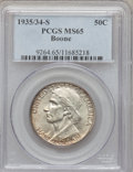 Commemorative Silver: , 1935/34-S 50C Boone MS65 PCGS. PCGS Population (193/113). NGCCensus: (177/108). Mintage: 2,004. Numismedia Wsl. Price for ...