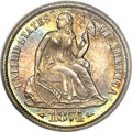 Proof Seated Dimes, 1874 10C Arrows PR66 PCGS Secure. CAC....