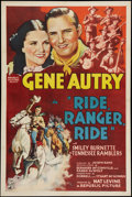 "Movie Posters:Western, Ride, Ranger, Ride (Republic, 1936). One Sheet (27"" X 41""). Western.. ..."