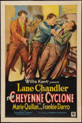 """Movie Posters:Western, The Cheyenne Cyclone (First Division Pictures, 1931). One Sheet(27"""" X 41""""). Western.. ..."""