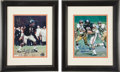 Football Collectibles:Photos, Dick Butkus and Gale Sayers Signed Photographs Lot of 2....
