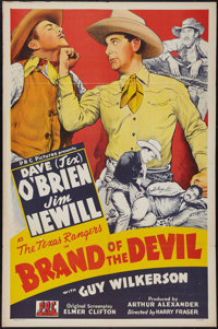 """Brand of the Devil & Other Lot (PRC, 1944). One Sheets (2) (27"""" X 41""""). Regular and Style B. Western..."""