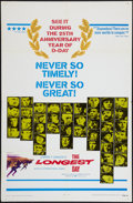"""Movie Posters:War, The Longest Day (20th Century Fox, R-1969). One Sheet (27"""" X 41""""). War.. ..."""