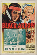 "Movie Posters:Serial, Black Arrow (Columbia, R-1955). One Sheet (27"" X 41""). Chapter 3 -- ""The Seal of Doom."" Serial.. ..."