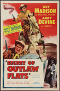 """Movie Posters:Western, Secret of Outlaw Flats (Allied Artists, 1953). One Sheet (27"""" X 41""""). Western.. ..."""