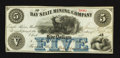 Obsoletes By State:Michigan, Eagle River, MI- Bay State Mining Company $5 June 30, 1866. ...