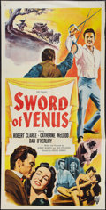 "Movie Posters:Adventure, Sword of Venus (RKO, 1953). Three Sheet (41"" X 81""). Adventure....."