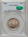 Barber Quarters, 1895 25C MS64 PCGS. CAC....