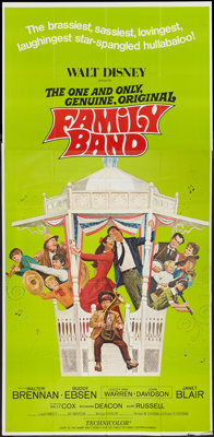 "The One and Only, Genuine, Original Family Band and Other Lot (Buena Vista, 1968). Three Sheets (2) (41"" X 81""..."