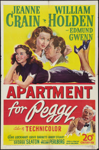 """Apartment for Peggy (20th Century Fox, 1948). One Sheet (27"""" X 41""""). Drama"""