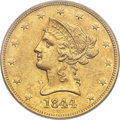 Liberty Eagles, 1844 $10 XF45 PCGS....