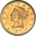 Liberty Eagles, 1871-S $10 AU50 PCGS....