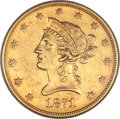 Liberty Eagles, 1871 $10 AU50 NGC....