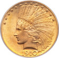 Indian Eagles, 1910 $10 MS65 PCGS....