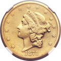 Liberty Double Eagles, 1871-CC $20 -- Repaired, Whizzed -- NGC Details. VF. Variety1-A....