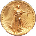 High Relief Double Eagles, 1907 $20 High Relief, Wire Rim -- Obverse Harshly Cleaned -- NGC Details. Unc....
