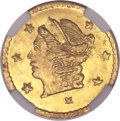 California Fractional Gold, 1868 25C Liberty Round 25 Cents, BG-806, R.3, MS67 NGC....
