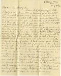 Basketball Collectibles:Others, 1900 James Naismith Handwritten Signed Letter.. Date: August 3, 1900.. Location: Williams Bay, Wisconsin.. Length in p...