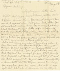 Basketball Collectibles:Others, 1900 James Naismith Handwritten Signed Letter with Signed Envelope.. Date: August 5, 1900.. Location: Williams Bay, Wisc...