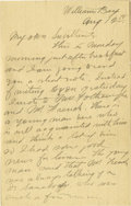 Basketball Collectibles:Others, 1900 James Naismith Handwritten Signed Letter with SignedEnvelope.. Date: August 12, 1900.. Location: Williams Bay, Wis...
