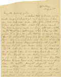 Basketball Collectibles:Others, 1900 James Naismith Handwritten Signed Letter with Signed Envelope.. Date: August 21, 1900.. Location: Williams Bay, Wis...