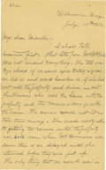 Basketball Collectibles:Others, 1902 James Naismith Handwritten Signed Letter with Signed Envelope.. Date: July 15, 1902.. Location: Williams Bay, Wisco...