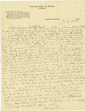 Basketball Collectibles:Others, 1916 James Naismith Handwritten Signed Letter with SignedEnvelope.. Date: August 3, 1916.. Location: Eagle Pass, Texas....