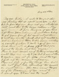 Basketball Collectibles:Others, 1916 James Naismith Handwritten Letter with Signed Envelope.. Date:August 22, 1916.. Location: Eagle Pass, Texas.. Le...