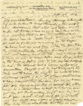 Basketball Collectibles:Others, 1916 James Naismith Handwritten Signed Letter with SignedEnvelope.. Date: September 3, 1916.. Location: Eagle Pass, Tex...