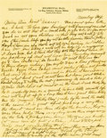 Basketball Collectibles:Others, 1916 James Naismith Handwritten Letter with Signed Envelope.. Date:September 4, 1916.. Location: Eagle Pass, Texas.. ...