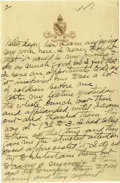 Basketball Collectibles:Others, 1917 James Naismith Handwritten Signed Letter.. Date: 1917..Location: San Francisco, California.. Length in pages: Th...