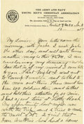 Basketball Collectibles:Others, 1917 James Naismith Handwritten Letter with Signed Envelope.. Date:June 16, 1917.. Location: San Antonio, Texas.. Len...