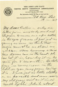 Basketball Collectibles:Others, 1917 James Naismith Handwritten Signed Letter with Signed Envelope.. Date: June 19, 1917.. Location: San Antonio, Texas....