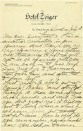 Basketball Collectibles:Others, 1917 James Naismith Handwritten Signed Letter with SignedEnvelope.. Date: July 1, 1917.. Location: El Paso, Texas.. L...