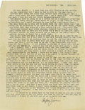 Basketball Collectibles:Others, 1917 James Naismith Typed Signed Letter with Signed Envelope..Date: July 6, 1917.. Location: San Antonio, Texas.. Len...