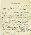 Basketball Collectibles:Others, 1917 James Naismith Handwritten Signed Letter with Signed Envelope.. Date: July 17, 1917.. Location: Denver, Colorado.. ...