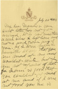 Basketball Collectibles:Others, 1917 James Naismith Handwritten Signed Letter with Signed Envelope.. Date: July 24, 1917.. Location: San Antonio, Texas....